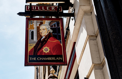 The Chamberlain Hotel London Tower Hill sign